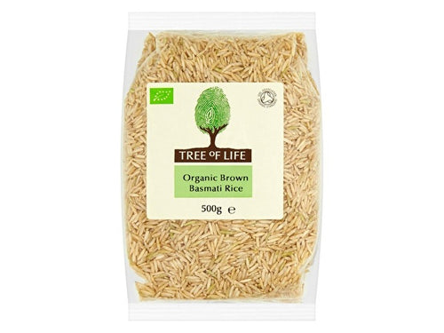 Tree Of Life Organic Rice - Brown Basmati - 500g x 6
