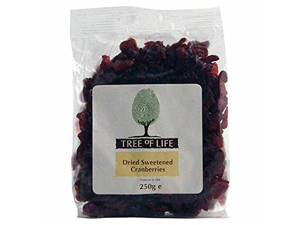 Tree Of Life Cranberries - 250g x 6
