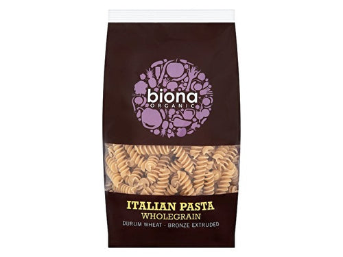 Biona Wholewheat Fusilli - Bronze Extruded - 500g