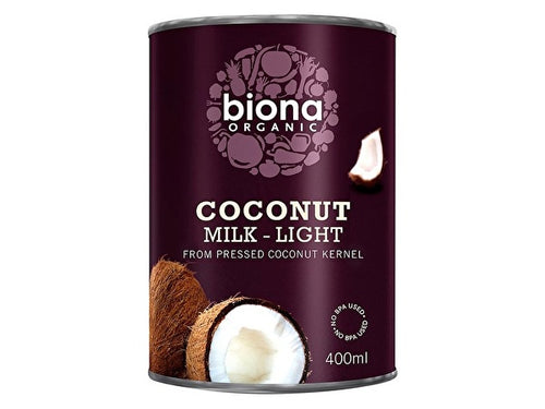 Biona Coconut Milk - Organic Light (9%) - 400ml x 6