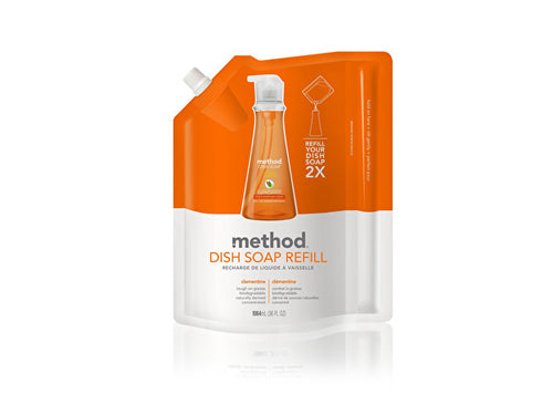 Method Washing Up Liquid Refill - Clementine - 1.064Ltr