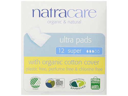 Natracare Natural Ultra Pads Super With Wings - 12s