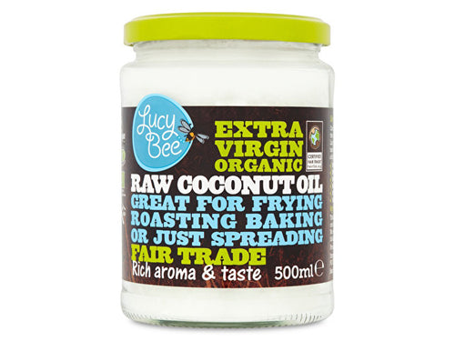 Lucy Bee Extra Virgin Raw Fairtrade Coconut Oil - Organic - 500ml
