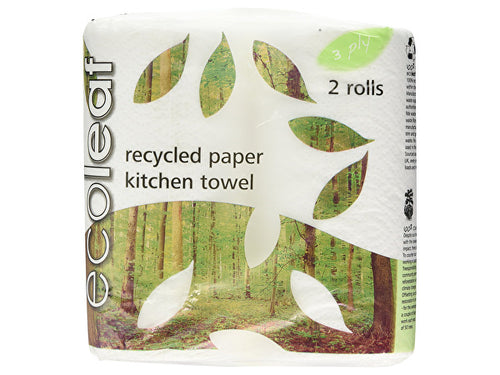 Ecoleaf Kitchen Towel - 3Ply - 2 Pack