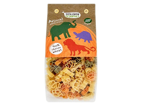 Little Pasta Tri Colour Animal Pasta - Spinach & Tomato - 130g