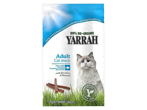 Yarrah Chewsticks With Seaweed & Spirulina For Cats - 15g