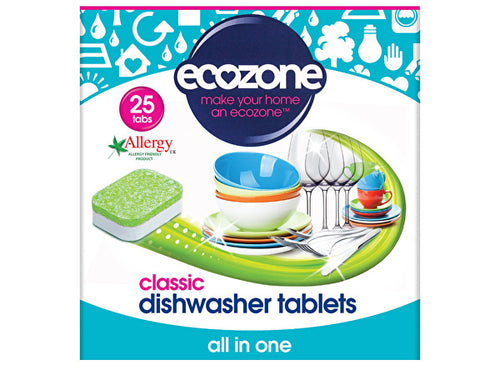 Ecozone Dishwasher Tablets - All In One - 25s