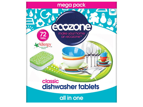 Ecozone Dishwasher Tablets - All In One - 72s