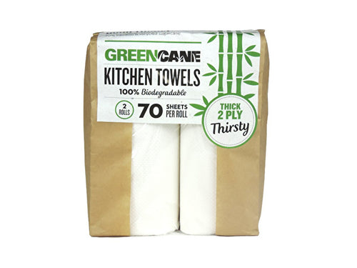 eencane 2 Ply Kitchen Towels - 80 Sheets - 2 Pack