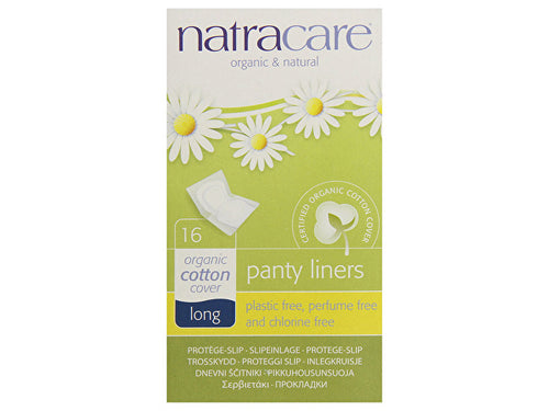 Natracare Panty Liners - Long Wrapped - 16s
