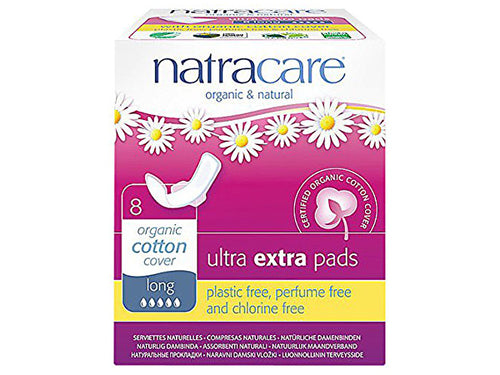 Natracare Ultra Extra Pads With Wings - Normal - 12s