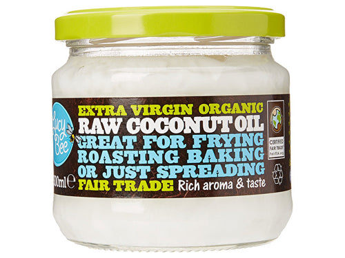 Lucy Bee Extra Virgin Raw Fairtrade Coconut Oil - Organic - 300ml