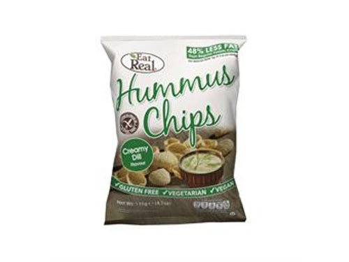 Eat Real Hummus Creamy Dill Chips - 45g x 12