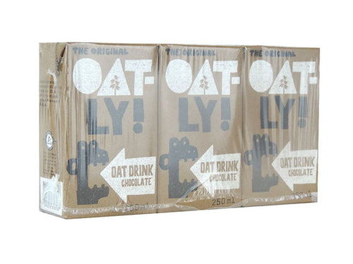 Oatly Chocolate Oat Drink - (250mlx3) x 6