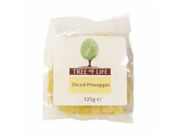 Tree Of Life Diced Pineapple - 125g x 6