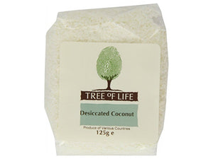 Tree Of Life Desiccated Coconut - 125g x 6