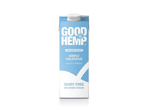 Good Hemp Hemp Drink - Unsweetened - 1Ltr