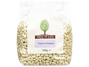 Tree Of Life Haricot Beans - 500g x 6