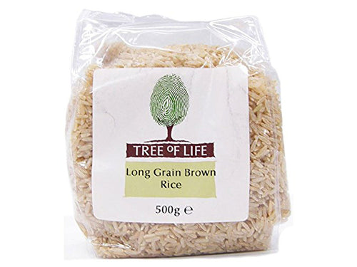 Tree Of Life Brown Long Grain Rice - 500g x 6