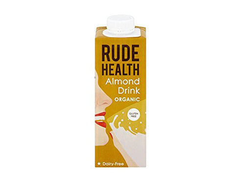 Rude Health Dairy Free & Unsweetened Almond Drink - 250ml x 10
