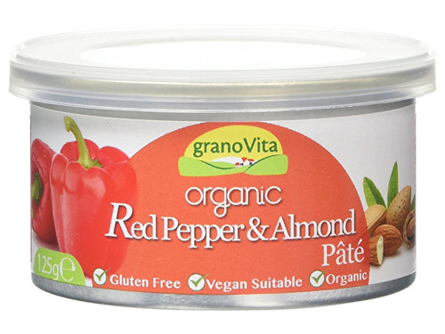 Granovita Organic Red Pepper & Almond Pate - Tin - 125g