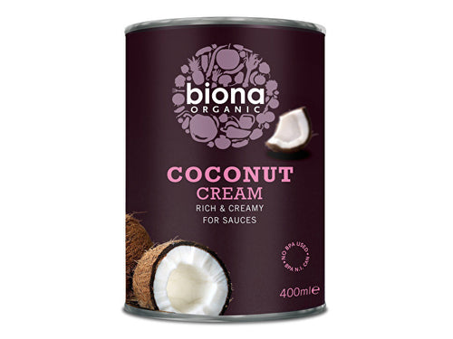 Biona Coconut Cream - Organic - 400ml x 6