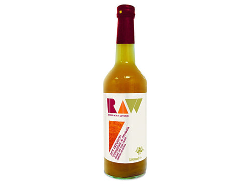 Raw Vibrant/L Apple Cider Vinegar Blend - Turmeric & Ginger - 500ml