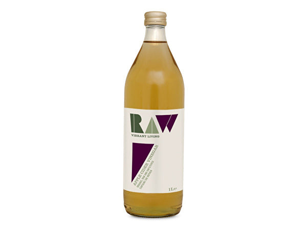 Raw Vibrant/L Organic Raw Apple Cider Vinegar - The Mother - 1Ltr
