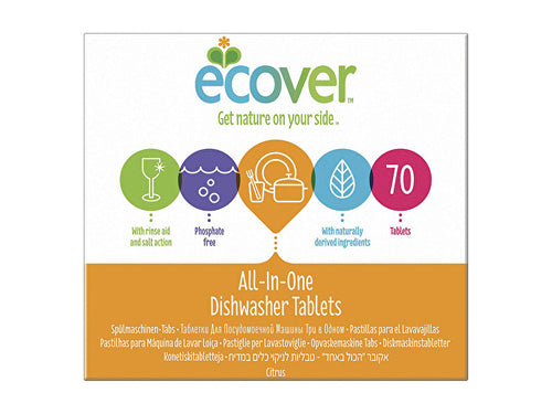 Ecover Dishwasher Tablets - All In One - 68s