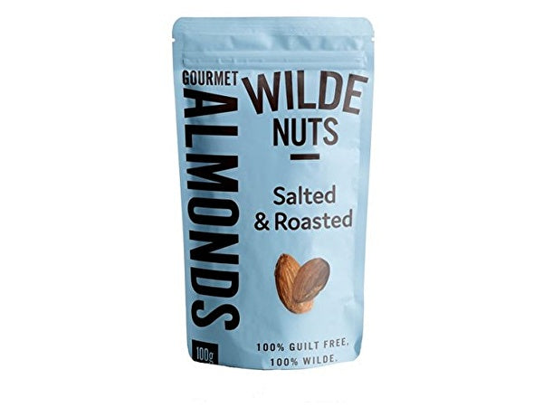 Wilde Nuts Salted & Roasted Almonds - 100g