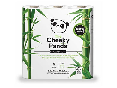 The Cheeky Panda Sustainable Bamboo Toilet Rolls - 9 Pack