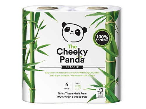 The Cheeky Panda Sustainable Bamboo Toilet Rolls - 4 Pack