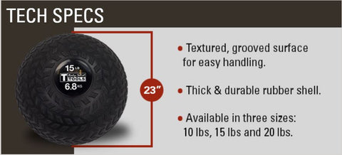 Tire Tread Slam Balls specs
