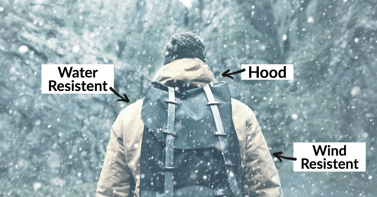 outer layer winter hiking men