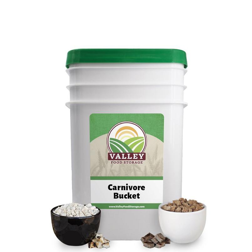 Carnivore Bucket Valley Food Storage