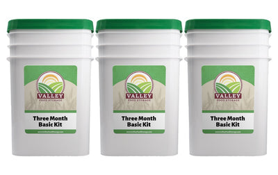 Three Month Basic Kit Valley Food Storage Natural Long Term Emergency Food Storage Three Month Basic Kit