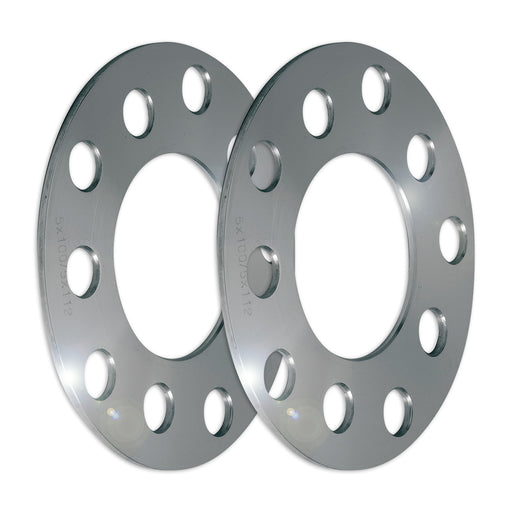 Set of Two (2) 5mm Press-On Wheel Spacers (5x100/5x112)