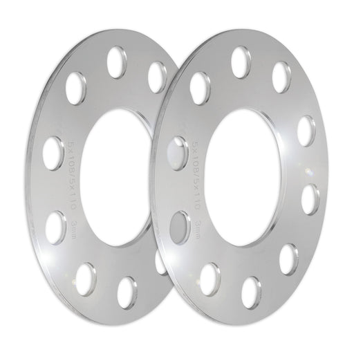 Set of Two (2) 3mm Press-On Wheel Spacers (5x108/5x110)