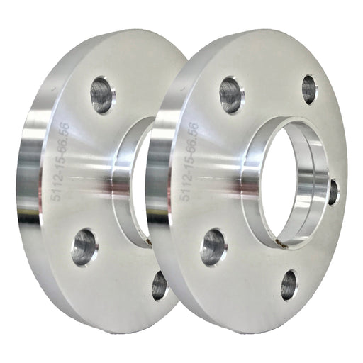 Set of Two (2) 15mm Press-On Wheel Spacers (5x112)