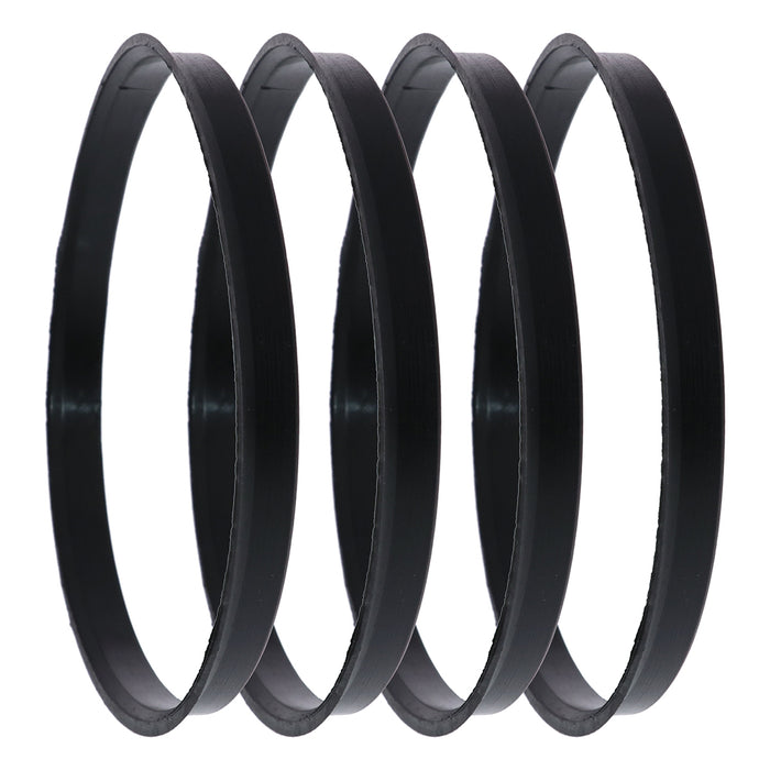 Black Polycarbonate Hub Centric Rings 125mm to 122mm - 4 Pack