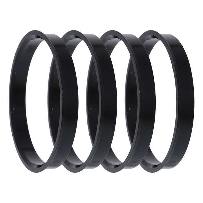 Black Polycarbonate Hub Centric Rings 74mm to 71.5mm - 4 Pack