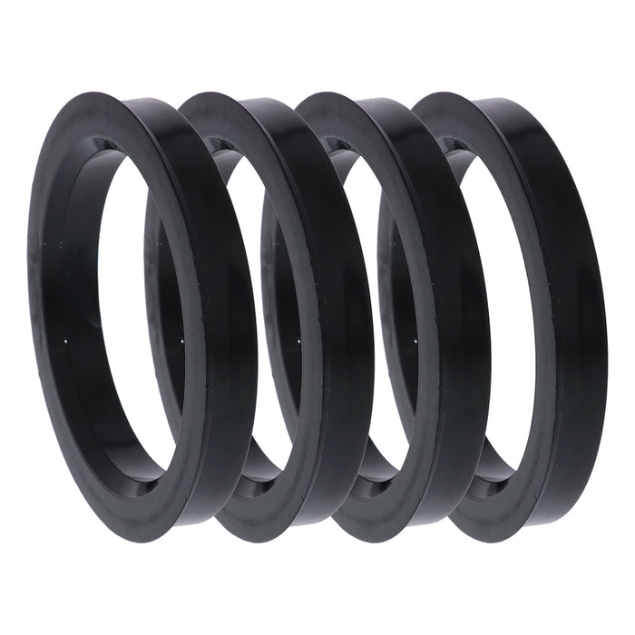 Black Polycarbonate Hub Centric Rings 74mm to 56.6mm - 4 Pack