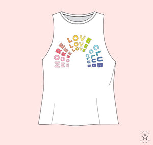 more love club tank