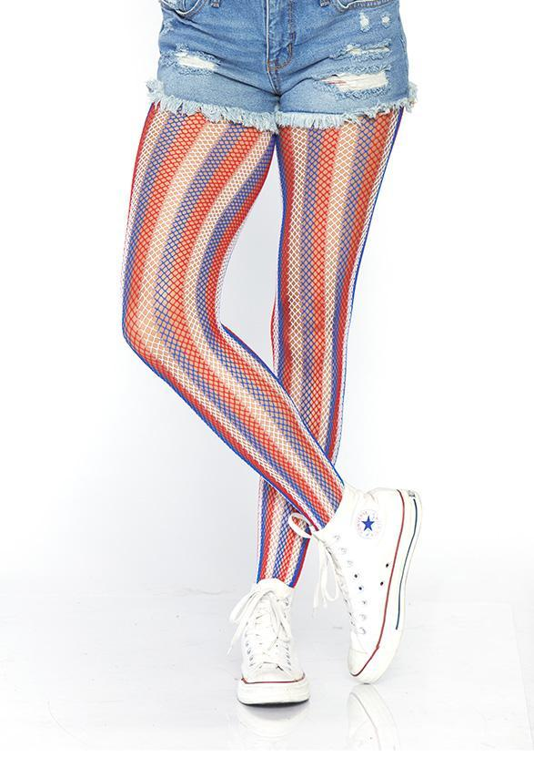 Americana striped, Sukkahousut-Leg Avenue-LouLou