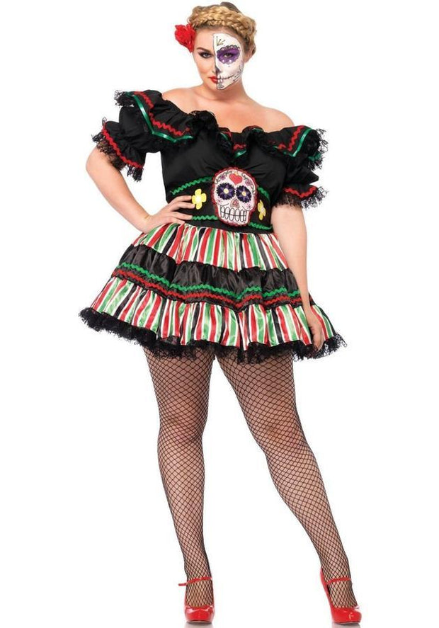Day Of The Dead Doll, Los Muertos Naamiaisasu, XL Koot-Leg Avenue-LouLou