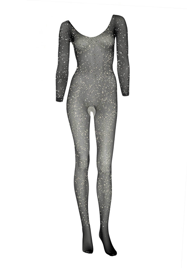 Fishnet sleeved Bodystocking-Leg Avenue-LouLou