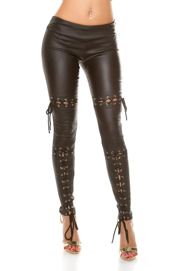 Koucla Leatherlook Housut -1- LouLou.fi