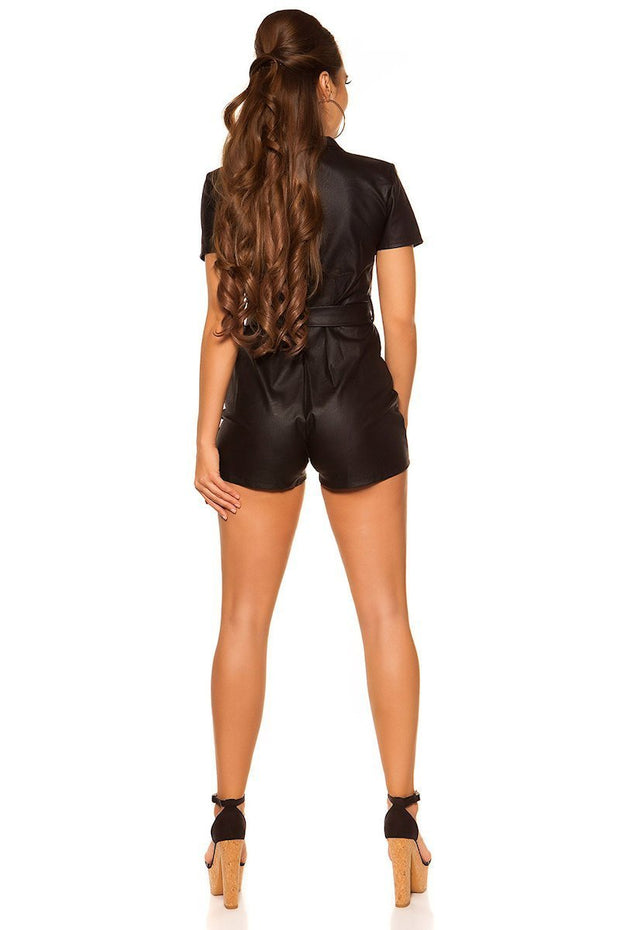 Koucla leatherlook Shortsiasu -5- LouLou.fi