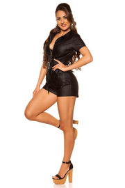 Koucla leatherlook Shortsiasu -7- LouLou.fi
