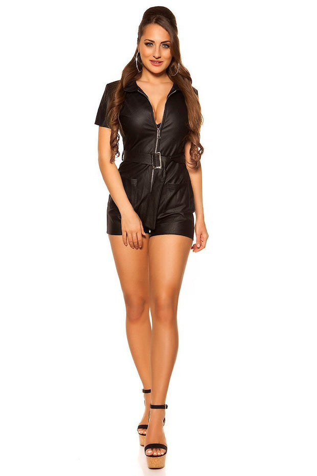 Koucla leatherlook Shortsiasu -1- LouLou.fi